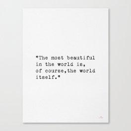 World quote Canvas Print