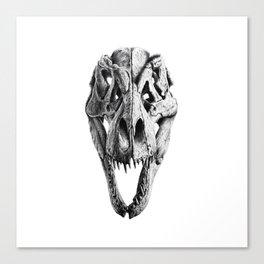 T-Rex Skull Canvas Print