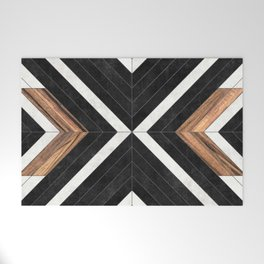 Urban Tribal Pattern No.1 - Concrete and Wood Welcome Mat