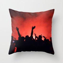 Barcelona party Throw Pillow