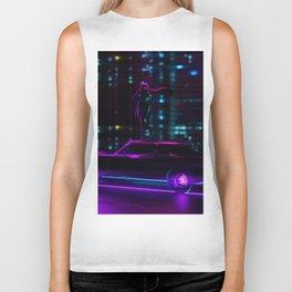 Neon City Night Biker Tank
