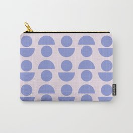 Shapes in Periwinkle Carry-All Pouch