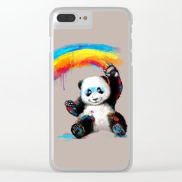 Giant Painter Clear iPhone Case