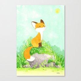 Petit renard Canvas Print