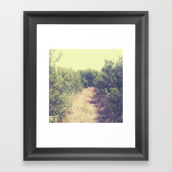 Around the Bend. Framed Art Print