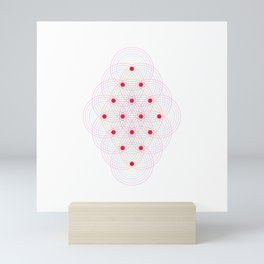 Tetractys - 144 Circles Mini Art Print