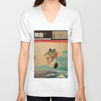 eugenia loli V-neck T-shirts featuring MBI13 by Frank Moth