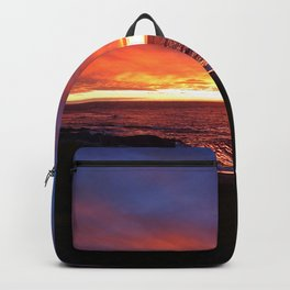 Beach Sunset on the Sea Backpack