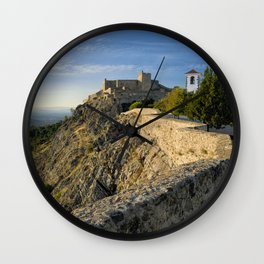 Marvao in the evening Wall Clock