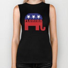 Florida Republican Elephant Biker Tank