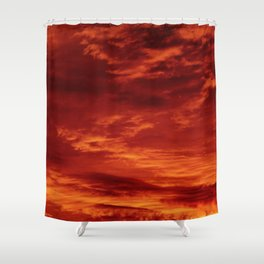 Inferno Skies Shower Curtain