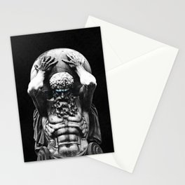 Hercules holding the whole world Stationery Cards