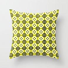 All-Over Yellow Fru Fru Throw Pillow