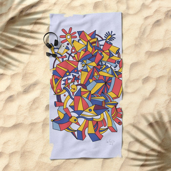 - dreamed architecture - Beach Towel