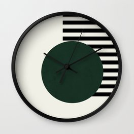 Green with stripes || Wall Clock