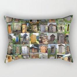 Outhouses Rectangular Pillow