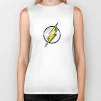 the flash Biker Tanks featuring FLASH by neutrone