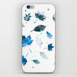 OCEAN BLUE LEAF PATTERN iPhone Skin