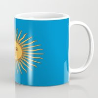 argentina Mugs featuring argentina flag sun by ArtSchool