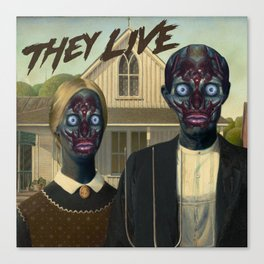 They live (1988) Canvas Print