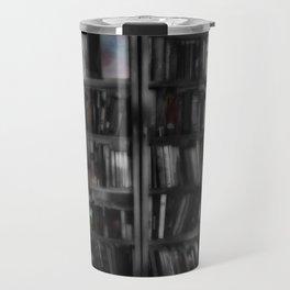 Black and White Book Shelves Travel Mug