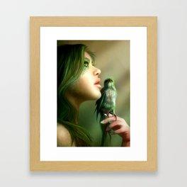 Green Whisper Framed Art Print