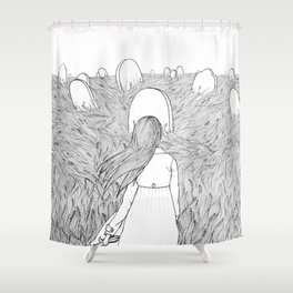 Goodbye Line Version Shower Curtain
