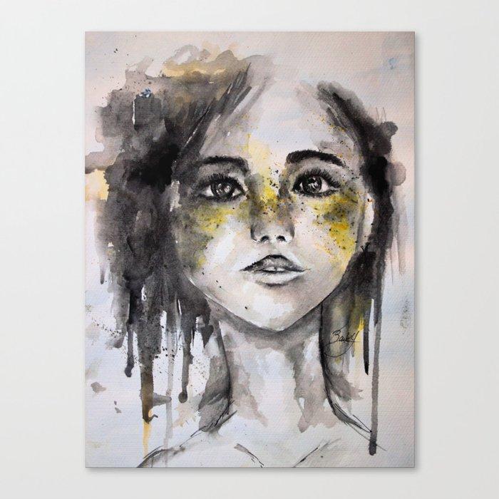HER, A Watercolour Portrait Canvas Print