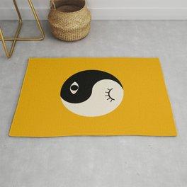 yin yang karma vibes Rug