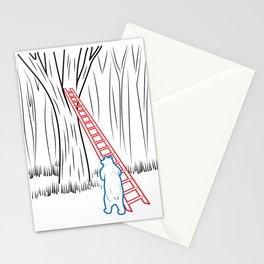 DA BEARS - CLIMBING Stationery Cards