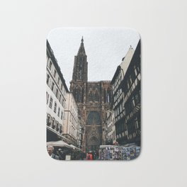 Street Market by the Strasbourg Cathedral Bath Mat