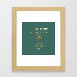Republic of China Passport Framed Art Print