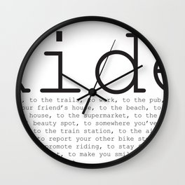 Ride To... Wall Clock