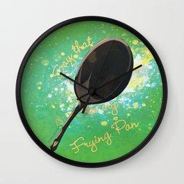 Frying Pan Wall Clock