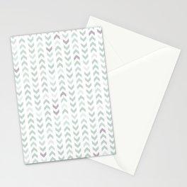 Follow the Arrow - sea foam Stationery Cards
