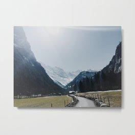 Through the Valley Metal Print