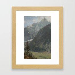 Albert Bierstadt 1830-1902 MOUNTAIN LANDSCAPE Framed Art Print
