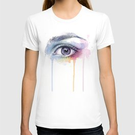 Colorful Eye Dripping Rainbow T-shirt