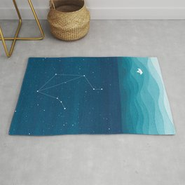Libra zodiac constellation Rug