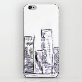 The City - Original Pen Ink Sketch iPhone Skin