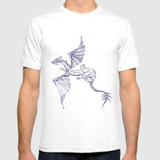 A Dragon's Tale White MEDIUM Mens Fitted Tee