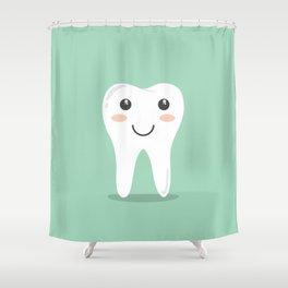 Cute Teeth Shower Curtain