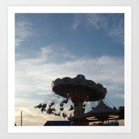 Point Pleasant, NJ Swings Art Print