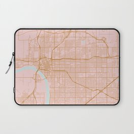 Pink and gold Tulsa map Laptop Sleeve