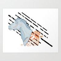 Ghost and Bones Art Print
