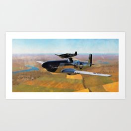 P51 D Fighter Art Print