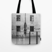 school Tote Bags featuring School by Ibbanez