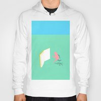 literature Hoodies featuring Exit Literature  by Dedo Mau
