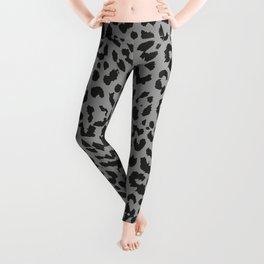 Black & Gray Leopard Print Leggings