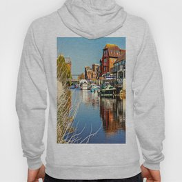 At the riverside. Hoody